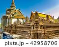 タイ ワット・プラケオ寺院 アンコール・ワットの模型 42958706