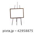 イーゼル カンバス キャンバスの写真 42958875