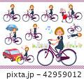 女性 自転車 サイクリングのイラスト 42959012