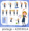 女性 コンプレックス 劣等感のイラスト 42959014