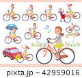女性 自転車 サイクリングのイラスト 42959016