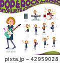 女性 楽器 音楽のイラスト 42959028