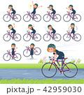 flat type Bob hair black dress women_road bike 42959030