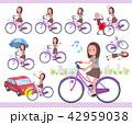 女性 自転車 サイクリングのイラスト 42959038