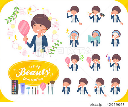 flat type Mash hair women_beauty 42959063