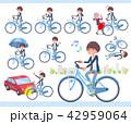 女性 自転車 サイクリングのイラスト 42959064