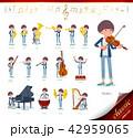女性 楽器 クラシックのイラスト 42959065