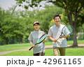 ミドルカップル テニス スポーツ イメージ 42961165