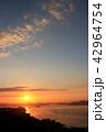 朝日 日の出 瀬戸内海の写真 42964754
