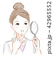 虫眼鏡を持った女の子 42965552