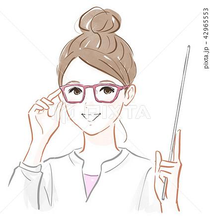 メガネをかけた女の子 42965553