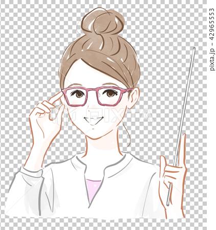 戴眼镜的女孩 42965553