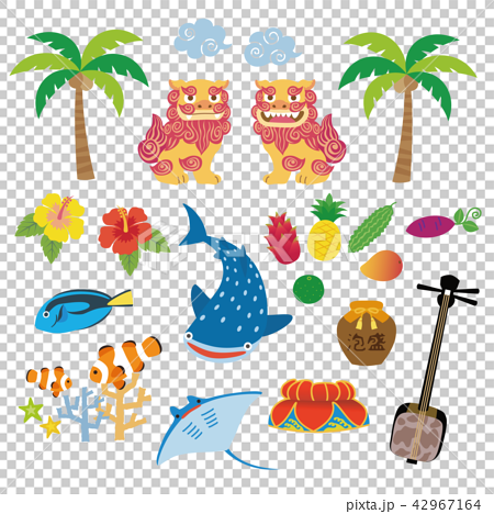 Okinawa tourist specialty material illustration 42967164