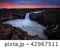 滝 自然 夕日の写真 42967511