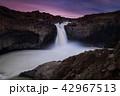 滝 夕日 夕焼の写真 42967513