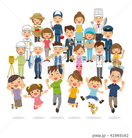 家族と地域の人々 42969162