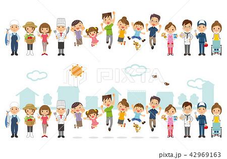 家族と地域の人々 42969163