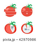 タイマー セット トマトのイラスト 42970986