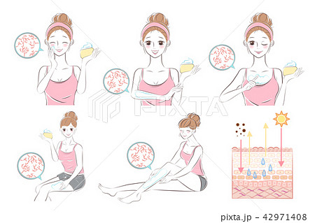 woman with dry skin concept 42971408