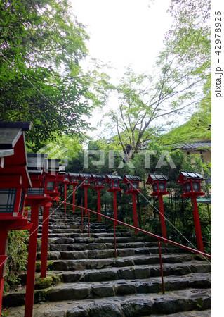 日本 京都 赤い灯籠 貴船神社 Japan Kyoto Red Lantern 42978926