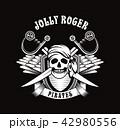 ドクロ シンボル 象徴のイラスト 42980556