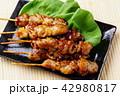焼鳥 焼き鳥 鶏肉の写真 42980817