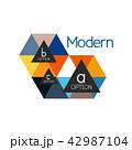 三角 三角形 シンボルマークのイラスト 42987104
