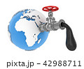 Oil Valve with World Map 42988711