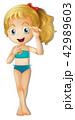 ビキニ ビキニ姿 女性のイラスト 42989603
