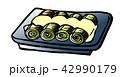 焼きネギ おつまみ 食べ物のイラスト 42990179