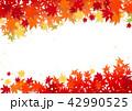 秋 紅葉 背景のイラスト 42990525