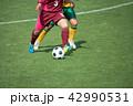 女子サッカー試合風景 42990531