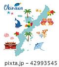 沖縄地図 観光マップ 42993545