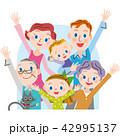 三世代家族 元気 ベクターのイラスト 42995137