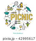 バーベキュー ピクニック 食のイラスト 42995617
