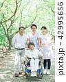 シニア 介護 散歩の写真 42995656