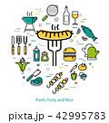 バーベキュー ピクニック 食のイラスト 42995783