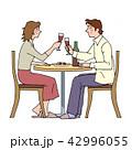 夫婦 乾杯 ワインのイラスト 42996055