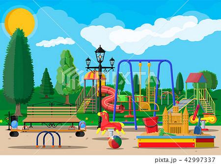Kids playground kindergarten panorama 42997337