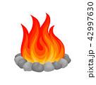 たき火 焚き火 焚火のイラスト 42997630