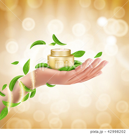 Advertising poster of a moisturizing cosmetic product 42998202