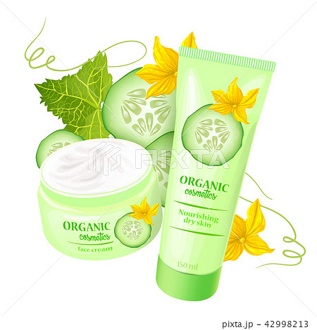 Organic cosmetics product with strawberries  42998213
