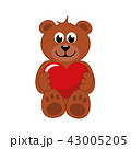 テディ クマのぬいぐるみ テディベアのイラスト 43005205