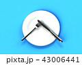 ナイフ フォーク 皿のイラスト 43006441