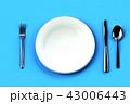 ナイフ フォーク 皿のイラスト 43006443