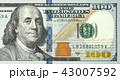 One hundred dollars bill close up detailed 43007592