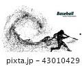 ベクトル ベースボール 白球のイラスト 43010429