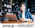女性 人物 パソコンの写真 43013637