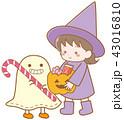 ハロウィンの仮装をしている子ども 43016810