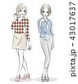 ファッション 女性 2人 43017637